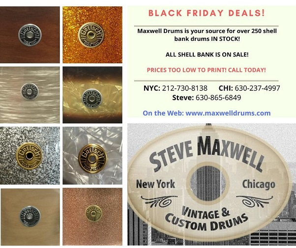 Chicago Drum Show 2020.Steve Maxwell Vintage And Custom Drums
